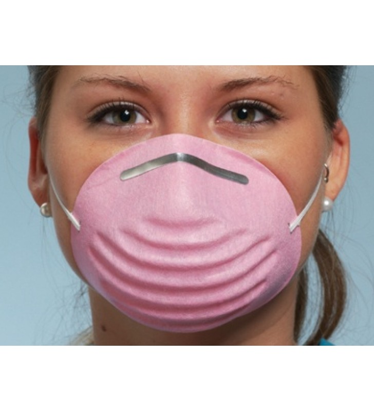 PREMIUM MOLDED MASK PINK- BOX/50 PICS