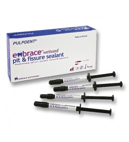 Embrace WetBond Pit & Fissure Sealant Kit: 4 x 1.2 mL syringes, natural shade 20 applicator tips