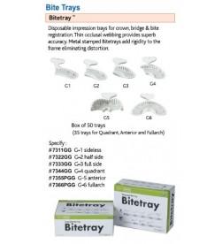 BITE REGISTRATION TRAY WHITE  10 PCS
