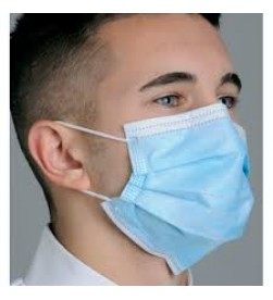 FACE MASK E-Z PLEATED TIE ON/50