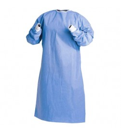 ISOLATION GOWN REGUALR SIZE, KNIT CUFF, BLUE