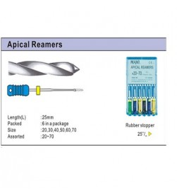 APICAL REAMER 25MM PK/6