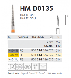TWIST FINISHING BURS - HM D 0135