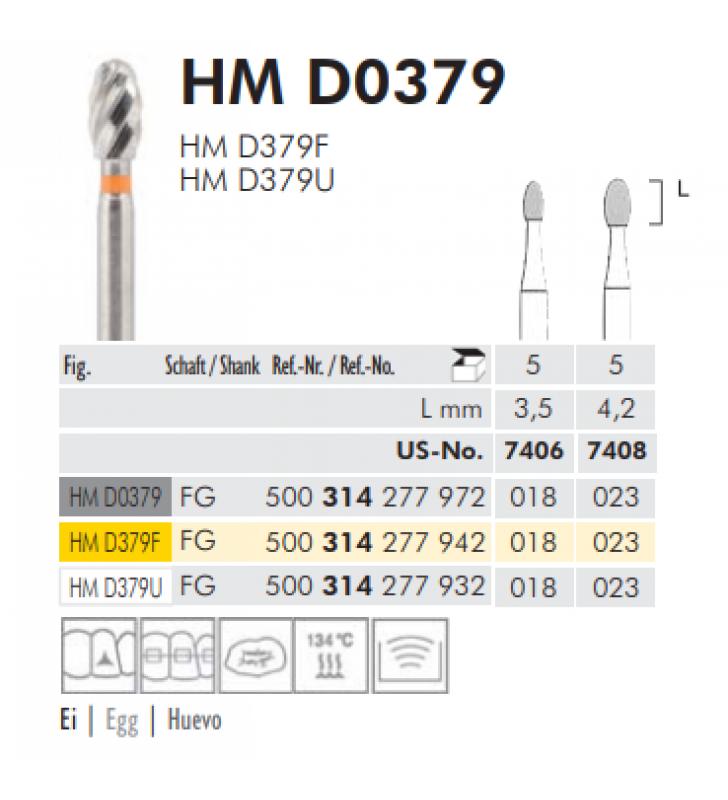 TWIST FINISHING BURS - HM D 0379